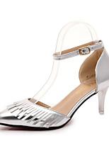 Damen-High Heels-Lässig-PU-Niedriger Absatz-Komfort-Rosa / Silber / Grau