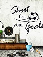Fashion Football English Word Family Wall Stickers DIY Encourage Living Room Wall Decals