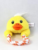 Cat / Dog Toy Pet Toys Plush Toy / Squeaking Toy Squeak / Squeaking / Rope Plush Yellow