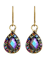 Fine Jewelry European Style High-Grade Charms Fashion Purple Rhinestone Zinc Alloy Earrings