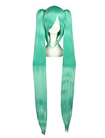 Cosplay Wigs Vocaloid Mikuo Green Extra Long / Straight Anime Cosplay Wigs 120 CM Heat Resistant Fiber Male / Female