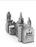 Jigsaw Puzzles 3D Puzzles Building Blocks DIY Toys Castle 1 Metal Silver Game Toy