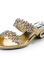 Women's Sandals Spring / Summer / Fall Slippers Glitter Dress / Casual Chunky Heel Sparkling Glitter Gold Others