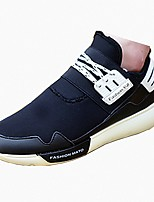 Men's Flats Spring / Fall Round Toe / Flats PU / Fabric Casual Flat Heel Others / Lace-up Black / White Others