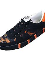 Herren-Sneaker-Lässig-Stoff-Flacher Absatz-Komfort-Blau / Rot / Orange