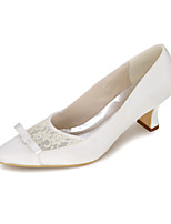 Women's Shoes Satin Spring / Summer / Fall Square Toe Heels Wedding / Party & Evening / Dress
