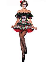 Costumes Ange et Diable Halloween / Carnaval / Fête d'Octobre Rouge / Blanc / Noir / Vert foncé Lace / Vintage Térylène Robe / Ceinture