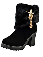 Women's Boots Fall / Winter Riding Boots / Fashion Boots Leather Outdoor / Casual Chunky Heel Others / Zipper