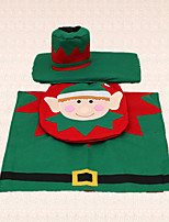 asiento del inodoro cubierta decoración alfombra tanque 3pcs duende de la navidad para los elementos de baño en casa