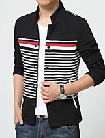 2016 spring section men's Jacket Boys Korean men's casual jacket thin coat collar striped tide men