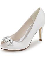 Women's Shoes Satin Spring / Summer / Fall Peep Toe Sandals Wedding / Party & Evening / Dress