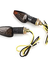 Motorcycle Motorbike Carbon Fiber 14 LEDs Light Lamp Turn Singal Indicator  (2Pcs)