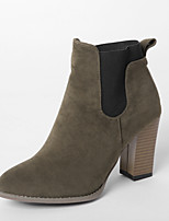 Women's Boots Fall / Winter Fashion Boots Dress Chunky Heel Others Black / Yellow / Khaki Walking