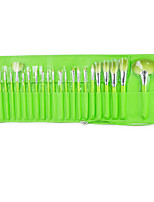 24 Makeup Brushes Set Synthetic Hair Portable Wood Face Others