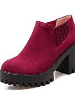 Women's Boots Fall / Winter Fashion Boots / Bootie / Round Toe Fleece Office & Career / Dress / Casual Platform Gore