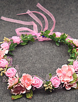 Women's Headpiece-Wedding Wreaths 1 Piece Purple / Coffee / Blue / Orange / Pink / Red / White / Yellow Flower 50cm