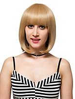 lin cheveux courts, perruques de mode.