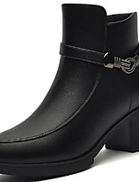 Women's Boots Spring / Fall/Winter Riding Boots Synthetic Office & Career / Casual Chunky Heel Black/Red Snow Boots