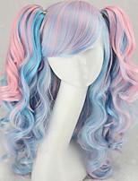 moda desenhos animados da cor peruca cos dupla tigre clipe de rabo de cavalo peruca cor misturada