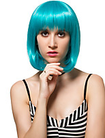 Lake green short hair, fashion wigs.