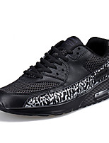 Men's Sneakers Spring / Fall Comfort Microfibre / Tulle Outdoor / Casual Flat Heel Lace-up Black / White Sneaker