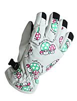 Ski Gloves Winter Gloves Kid's / Unisex Keep Warm Ski & Snowboard White / Pink / Blue / Purple Canvas Free Size