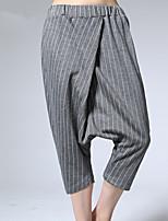 ARNE® Femme Taille Haute Sarouel Gris Pour tous les jours Pantalon-B079