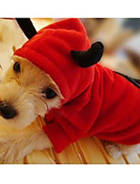 Cat / Dog Costume Red Winter / Spring/Fall Animal Cosplay, Dog Clothes / Dog Clothing