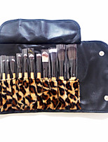 12 Makeup Brushes Set Nylon Professional / Full Coverage / Portable Wood Face / Eye