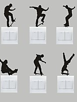 AYA™ Set of 6 DIY Creative Skateboarding Switch Stickers Wall Decor