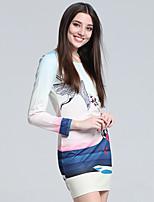 Women's Korean Long Sleeve Cotton Mini Dress