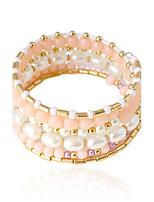 Bangles 1pc,Imitation Pearl Tube White / Pink Alloy / Imitation Pearl Jewelry Gifts