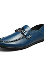 Men's Sneakers Spring / Fall Styles / Round Toe Cowhide Casual Flat Heel Others Black / Brown / Green Walking