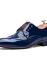 Men's Flats Spring / Fall Comfort PU Casual Flat Heel  Black / Blue / Burgundy Others