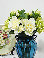 Hi-Q 1Pc Decorative Flower Gardenia Flower Wedding Home Table Decoration Artificial Flowers