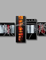 Ручная роспись Абстракция Картины маслом,Modern 4 панели Холст Hang-роспись маслом For Украшение дома