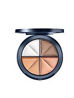 4 Palette de Fard à Paupières Lueur Fard à paupières palette Poudre Compact Normal Maquillage Quotidien