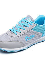 Women's Sneakers Spring / Fall Comfort Tulle Casual Wedge Heel Lace-up Blue / White / Gray Sneaker