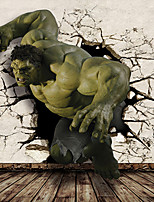 JAMMORY 3D Wallpaper For Home Contemporary Wall Covering Canvas Material Hulk3XL(14'7''*9'2'')