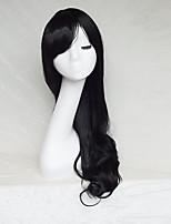 couleur cosplay perruque couleur noire coulée longs points de 30inch perruque de cheveux bouclés