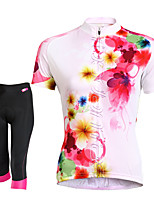 Deportes Bicicleta/Ciclismo Shorts/Culotte / Camiseta/Maillot Mujer Mangas cortasTranspirable / Secado rápido / Reductor del Sudor /