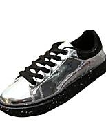 Черный / Фиолетовый / Серебристый-Мужской-На каждый день-Полиуретан-На плоской подошве-Удобная обувь-Кеды