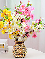 Hi-Q 1Pc Decorative Flower Peach Blossom Wedding Home Table Decoration Artificial Flowers