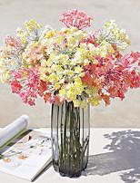 1 1 Филиал Полиэстер / Пластик Pастений / Другое Букеты на стол Искусственные Цветы 20.47Inch/52cm