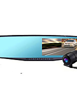 Double Lens Rear View Mirror Driving Recorder Double Record 4.3 Inch Reversing Image Recorder
