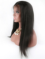 10-28 Inch Brazilian Virgin Human Hair Lace Front Remy Straight Hair Lace Wigs With With Baby Hair