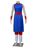 Ispirato da Dragon Ball Son Goku Anime Costumi Cosplay Abiti Cosplay Tinta unita Bianco / Rosso / Blu Senza manicheCheongsam / Pantaloni