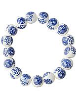 Bracelets de rive 1pc,A la Mode Forme Ronde Bleu Alliage Bijoux Cadeaux