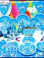 Пластик / Картон Свадебные украшения-16Шт./набор Бумажный декор День рождения Урожай Theme Синий Весна / Лето / Осень / Зима