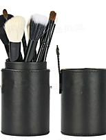 12Pcs Black Wool Makeup Brushes Set